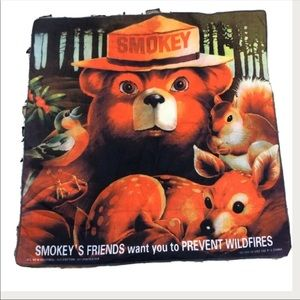 Smoky the Bear 80's Vintage Square Scarf